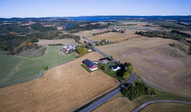Riksantikvaren mener kulturlandskapet i Kirkebygda, som her på Hammeren, er av nasjonal interesse.