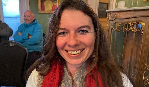 PÅ KONSERT: Mareike Bürgener var blant de som fikk med seg en av de to konsertene på Øsken gård på Fosser søndag ettermiddag.