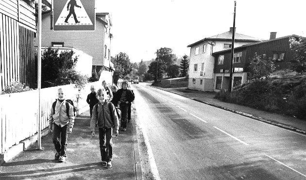 Vålerveien på Krapfoss, 1980