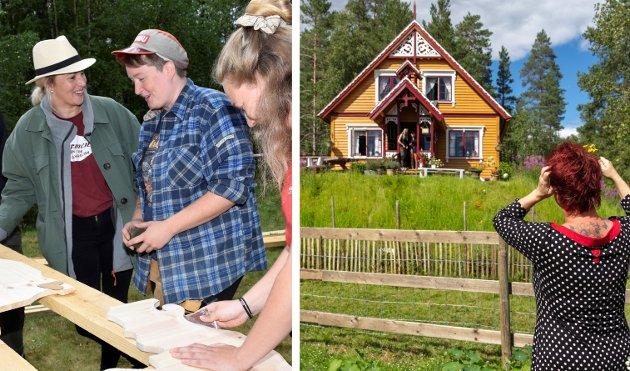 «FARMEN»-GÅRDEN: Sen den enorme forvandlingen gården på Nedre Finneplassen har gjennomgått for å bli til Samsjø gård – «Farmen»-gården.