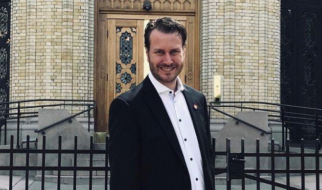 Helge André Njåstad, kommunalpolitisk talsmann i Fremskrittspartiet. (Foto: Fremskrittspartiet)
