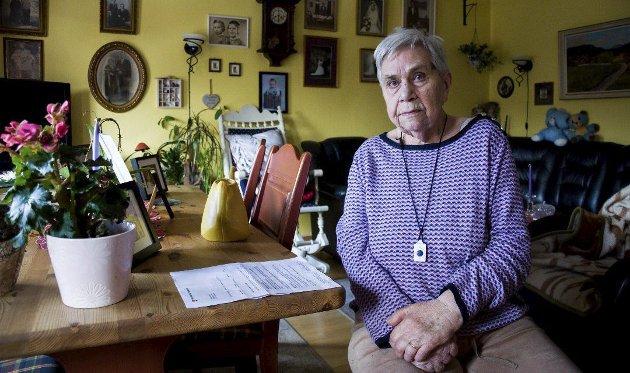 Sjokkert: Elsa Johansen (85) ble sjokkert da hun fikk brevet om den skyhøye husleieøkningen.