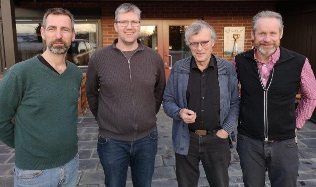 Christian Diskerud Meyer, Østre Toten skogeierlag, Ole Edvard Løken. Vestre Toten skogeierlag, Lars Ligaarden, Gjøvik skogeierlag, og Einar Stuve, Biri skogeierlag.