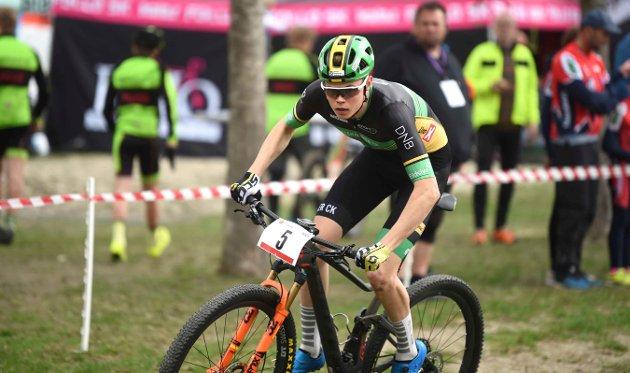 Erik Hægstad i aksjon. Han ble andremann i seniorklassen.