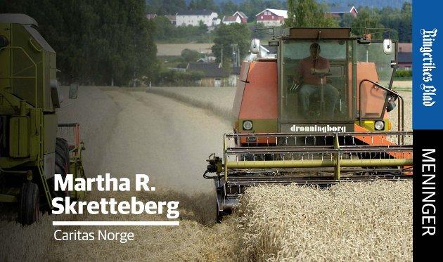 LOKAL PRODUKSJON: – Småskalabønder spiller en viktig rolle i lokal matproduksjon, skriver Martha Rubiano Skretteberg.