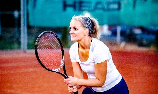 Katrine Kleven tok et tenniskurs i Drøbak og ble helt hekta på sporten.