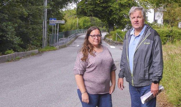 Aina Sjursen og Arne Stadheim i aksjonsgruppen mot bomstasjon i Nordvik.