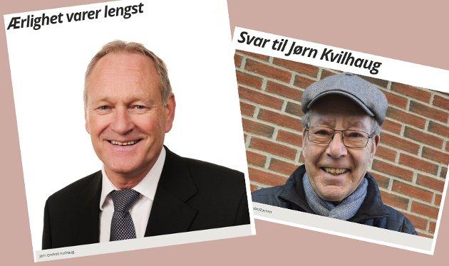 Skjermdump fra eikerbladet.no, 26. februar og 20. mars.