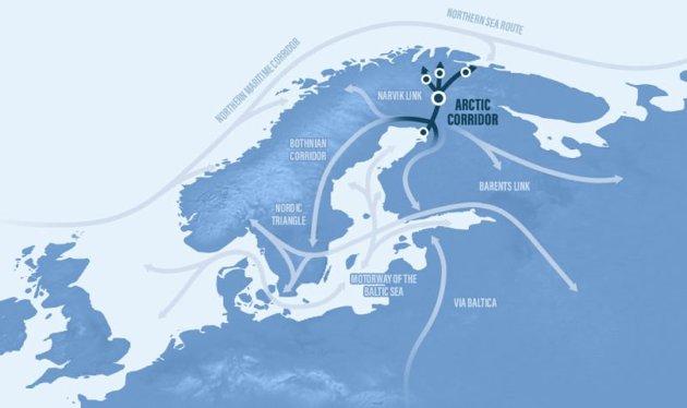 FLERE VEIER: Norske og finske eksperter vurderer flere ulike ruter fra Finland til Kirkenes.