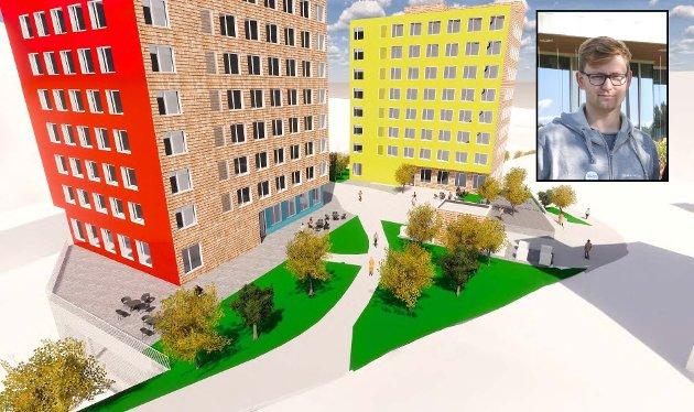 BYGGING: – Kan ikke studentboligene i Røverdalen bygges uavhengig av parkeringshus? spør artikkelforfatteren.