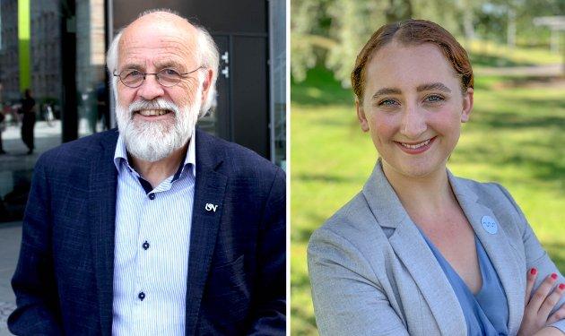 ØNSKER VELKOMMEN: Rektor Petter Aasen og studentleder Karoline Lie forteller om kommende studieår ved Universitetet i Sørøst-Norge (USN).