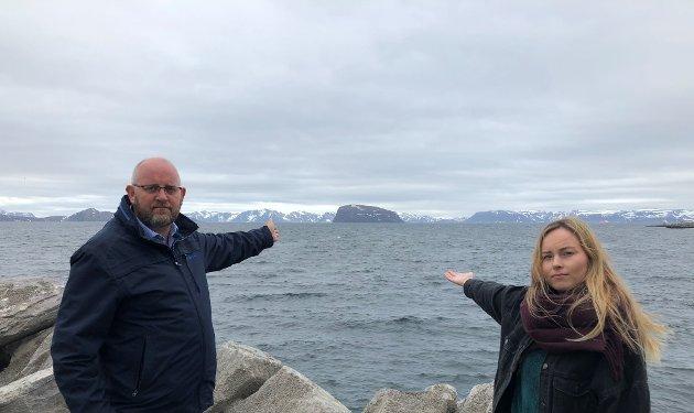 Espen Hansen, direktør Hammerfest Næringsforening og Katrine Næss, destinasjonsutvikler Hammerfest Turist.
