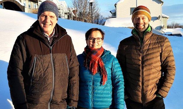 Geir A. Iversen, Nancy C. Porsanger Anti og Lodve A. Svare utgjør arbeidsutvalget i Finnmark Sp