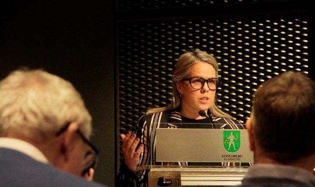 IDRETTSFORKJEMPER: Kine Fusche Jenssen var skarp i kritikken av flertallspartiene fordi hun mener de ikke lytter til idrettens behov og ønsker.
