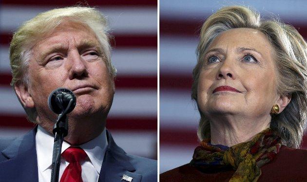 USA-VALGET: Donald Trump slo Hillary Clinton i det amerikanske presidentvalget i fjor og har sjokkert mange etterpå med flere av sine utspill - blant annet om «falske nyheter» og «alternative nheter».