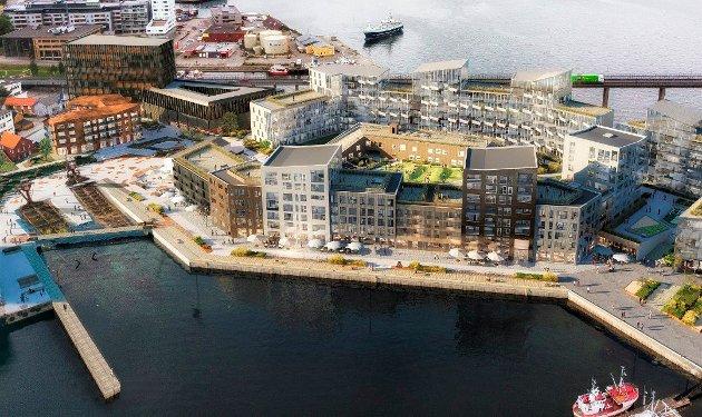 VERVET: Gigantutbyggingen blir en ny bydel i Tromsø.