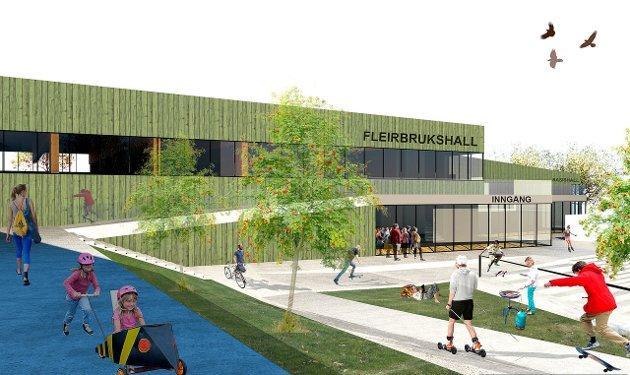 FLEIRBRUKSHALL: Ein ny fleirbrukshall står på ønskjelista i Sogndal.