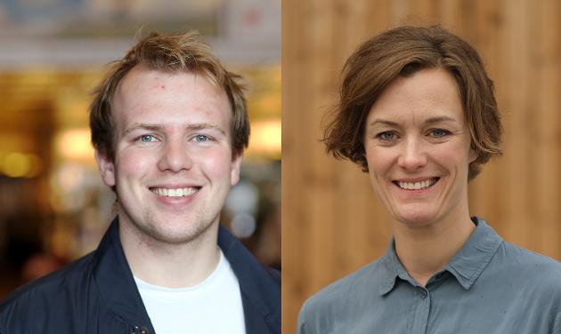 Håvard S. Saanum og Anette Trettebergstuen, stortingskandidater for Arbeiderpartiet