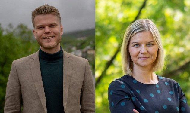 Venstres Even Aronsen og Guri Melby.