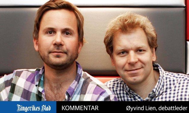 TV-PRODUSENTER: Kristian Ødegård og Espen Eckbo.