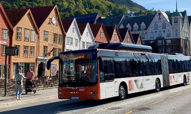 Bybanen skal redusere strømmen av busser gjennom Sentrum.