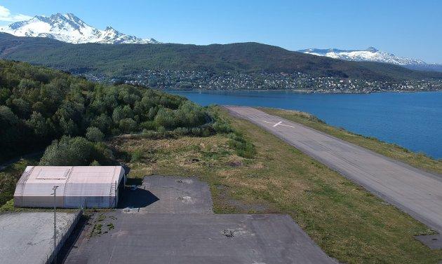Den nedlagte Narvik liufhavn, Framneslia sett fra luften.