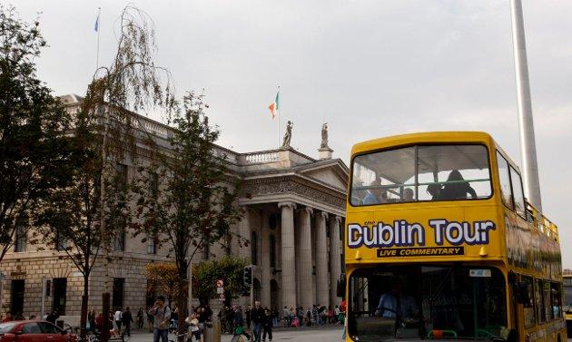 VÅKNER IGJEN: Dublin og Irland ble hardt rammet av finanskrisen i 2008. Nå er den keltiske tigeren i ferd med å våkne igjen. ILLUSTRASJONSFOTO: NTB scanpix