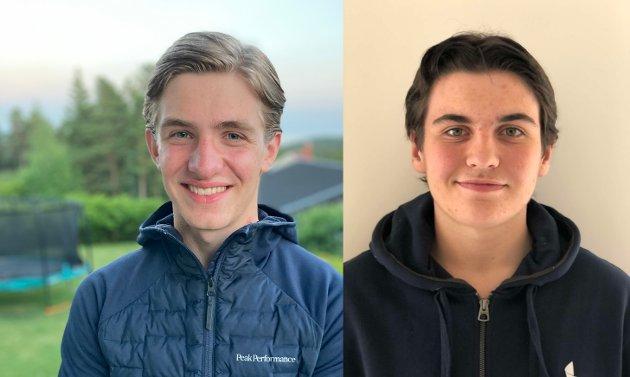 SVARER: John Petter Stevik og Mathias Lothe Nilsen.