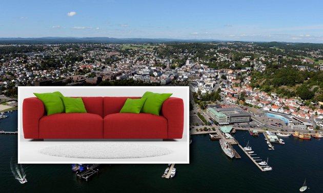 I Vestfold søker vi mest på Sandefjord på finn.no. Etterfulgt av sofa.