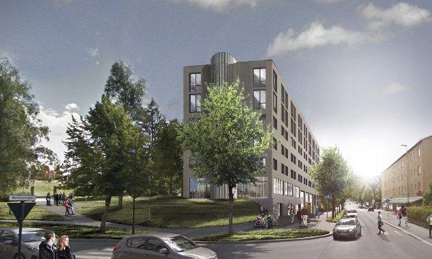 Utvikling: Et nytt hotell vil bidra til utvikling både av byen og regionen, mener Christian Bråtebekken, Kjersti Wangen og Lars Gillund. ILLUSTRASJON: Link Arkitektur