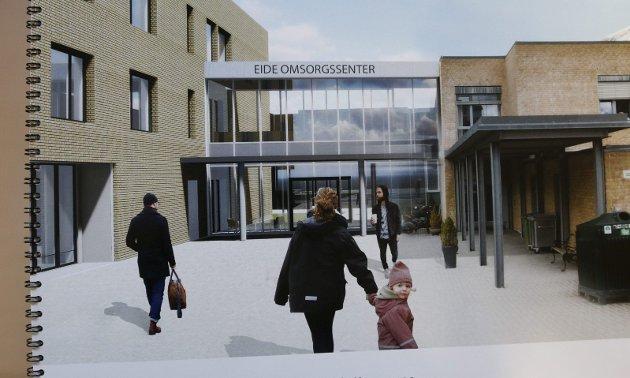 VEDTAK: Uansett hvor vi nå vil plassere sjukehjemmet, må kommunestyret allerede til høsten fatte vedtak om at det skal bygges, skriver Kjell Einar Nilsen. Illustrasjon: Odda kommune
