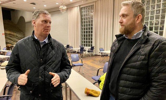 STILLER SPØRSMÅL : Leder Carl-Henrik Siebke og nestleder Jan-Erik Winther fra Harstad kommunale foreldreutvalg slår alarm.