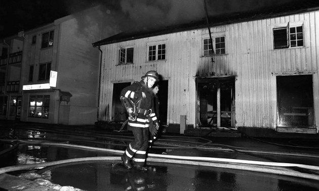 Den gamle gården ble totaltskadd i brannen.
