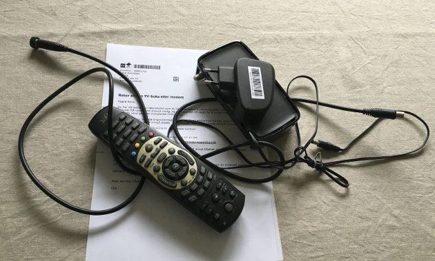 Takk for nå: Kabel-tv-boksen og det tilhørende utstyret er sendt tilbake til leverandøren. Nå må hele familien klare seg med tv-innhold via strømmetjenester.
