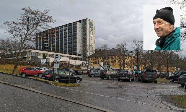 Høstbilde av Lillehammer Sykehus.