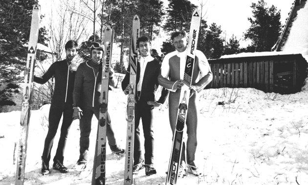 Ildsjeler: De siste hoppentusiastene fotografert i Ræbben i 1993.