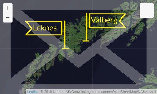 Brevet ble sendt fra Leknes og nådde Valberg 13 dager seinere. Pasienten rakk ikke legetimen sin.