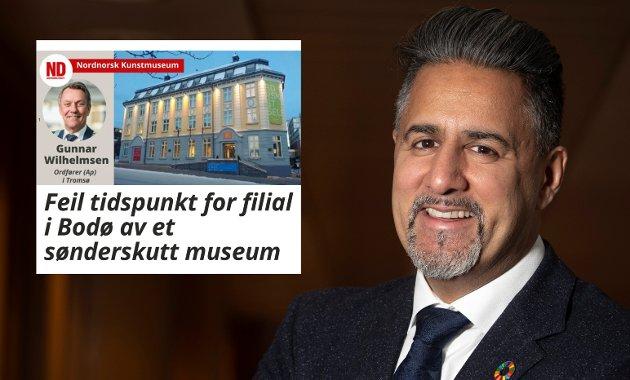 Ordfører Gunnar Wilhelmsen i Tromsø setter byer i nord opp mot hverandre, skriver kulturminister Abid Raja.