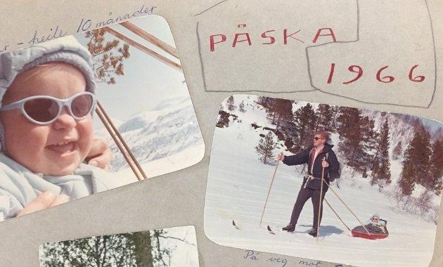 HAR DA VÆRT PÅ TUR...: Påskebilder er kjekt å ha, selv om de er over 50 år gamle. (Foto: Privat)