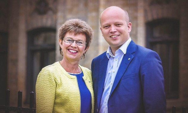 Kathrine og Trygve: Har mye jobb å gjøre før de er sikret å bli kolleger på Stortinget. Foto: Sp