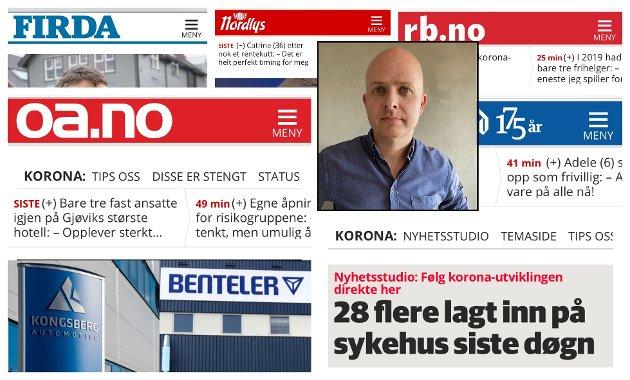 LOKALT: - Min oppfordring til bedriftseiere og lokale kjøpmenn i Vestoppland er å også tenke lokalt når det kommer til annonsering. Vi er like mye en del av lokalsamfunnet som alle andre og vi er i høyeste grad en del av #handlelokalt, skriver OAs salgsdirektør Thomas Edvardsen.