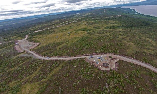 VARIG: Utbygginga av vindkraftverket på Raskiftet setter varige spor. Her et dronebilde fra utbyggingsperioden. :