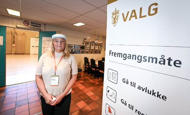 Valg2021 på Skonseng som har gymsalen som stemmelokale.