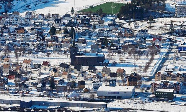 Arkivfoto av Narvik kirke.