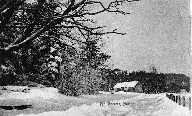 Apenes gård ved krysset Falkenstensveien / Apenesbakken