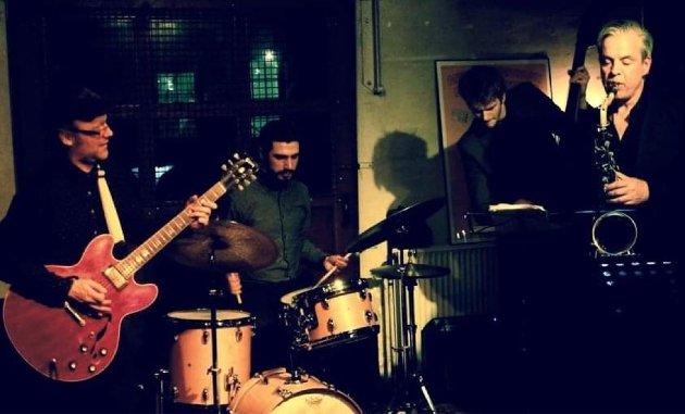 Mads Thorsen sammen med sin utmerkede kvartett.