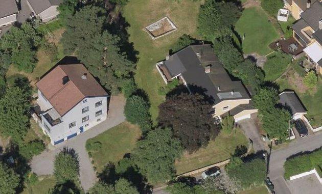 KITTEL-NIELSENS VEI 83-85: Debattanten reagerer på at store trær skal felles i forbindelse med utbygging av disse to eiendommene.