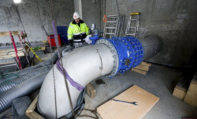 Ullensaker-prosjekt: Ifølge innsenderne fra Ullensaker Frp var vannbehandlingsanlegget ved Hurdalsjøen fra starten av planlagt, prosjektert og bygget av Ullensaker kommune. Foto: Tom Gustavsen