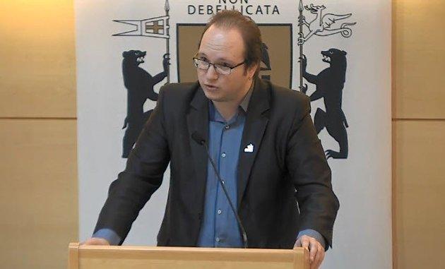 Jan Petter Bastøe, leder og bystyrerepresentant for Rødt i Sarpsborg.