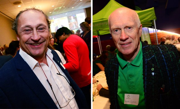 Senterpartiets Steinar Solum og Richard Fossum kan bli ordførere.